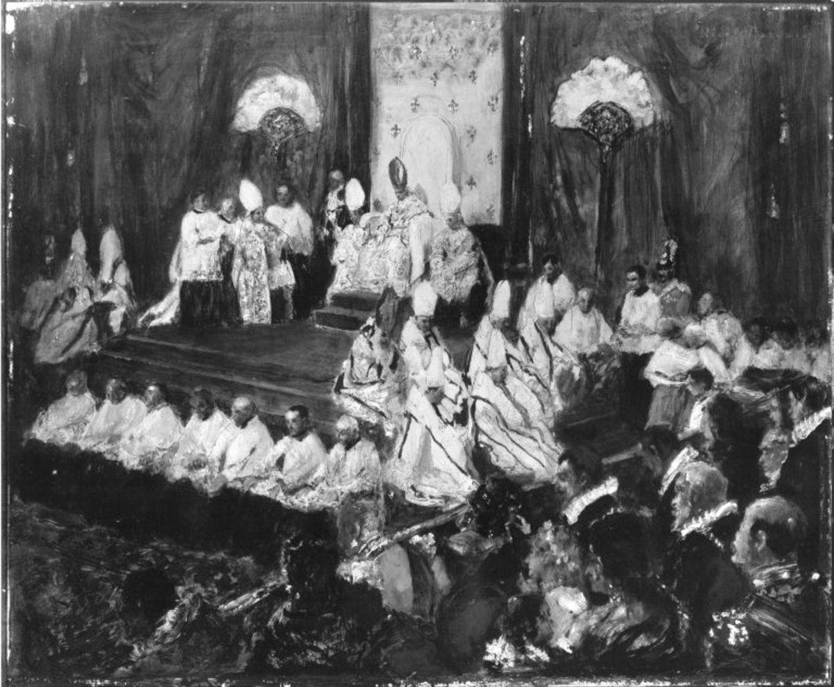 Pontifikale Papst Pius' X. in der Sixtinischen Kapelle (In der Peterskirche)