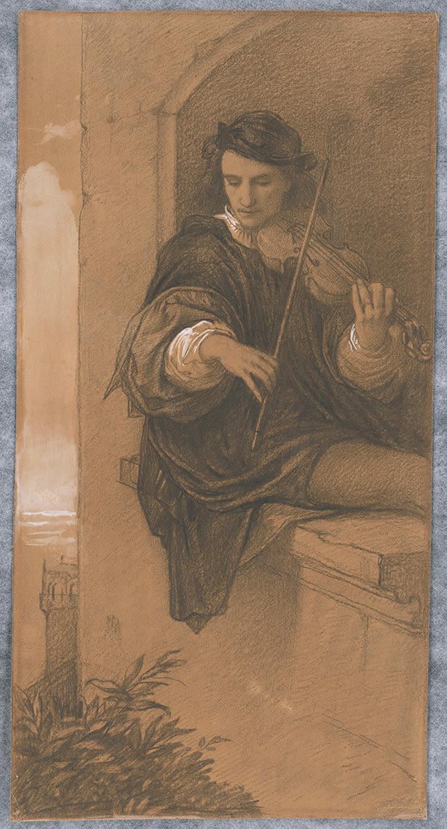 Der Violinspieler (Entwurf)