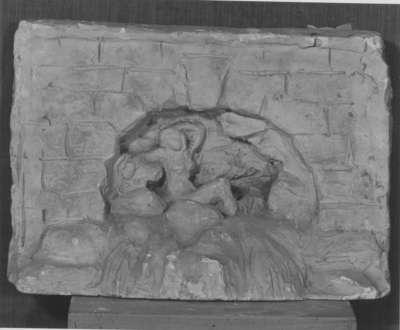 Modell für eine Grotte mit Rheintochter des Vater-Rhein-Brunnens in Köln