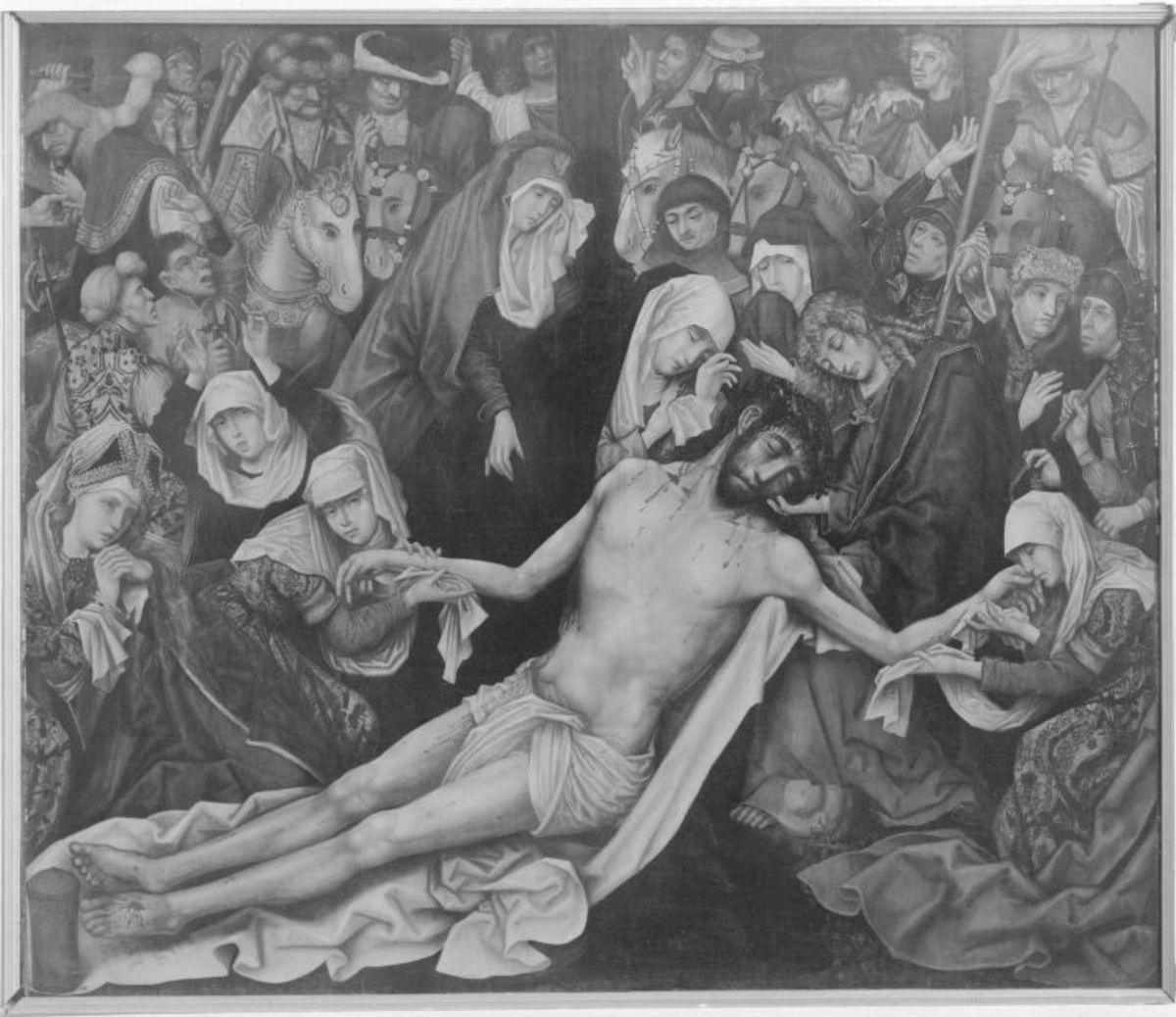 Pollinger Passionstafel: Beweinung Christi