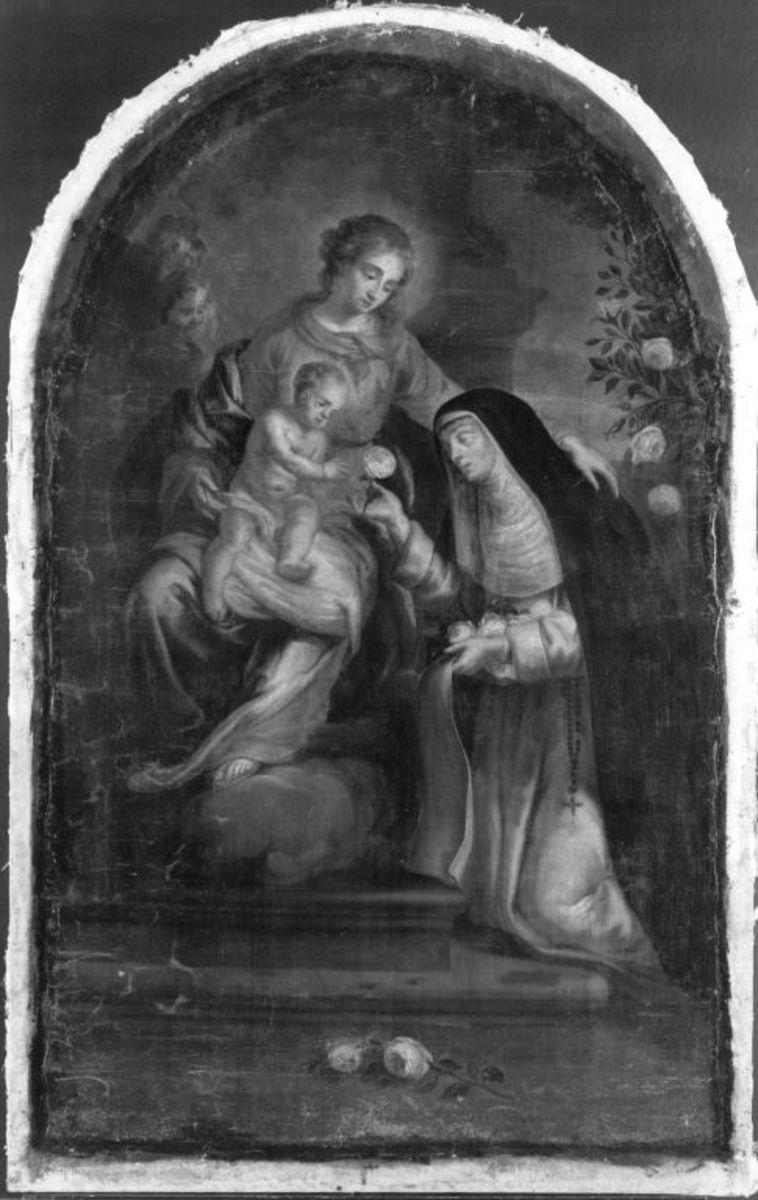 Hl. Maria mit Kind und der hl. Rosa
