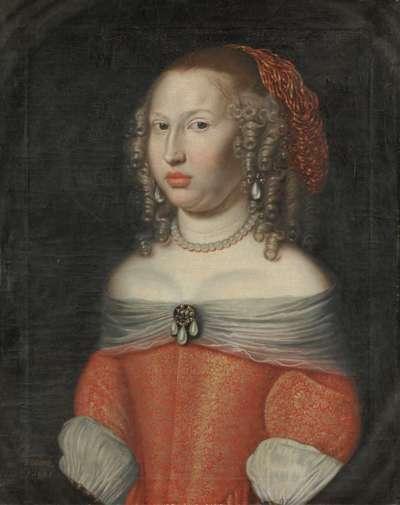 Bildnis der Henrietta Dorothea, geb. Landgräfin von Hessen- Darmstadt, Tochter von Landgraf Georg II., Gräfin von Waldeck-Pyrmont (1641-1672)