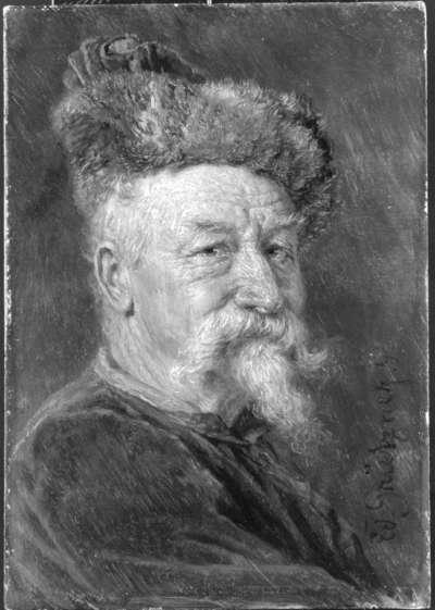 Bildnis eines alten Mannes mit Pelzmütze