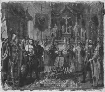 Herzog Otto III. von Bayern wird zum König von Ungarn gekrönt