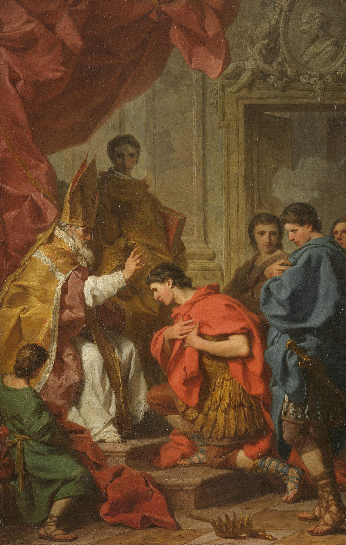 Kaiser Theodosius vor dem hl. Ambrosius