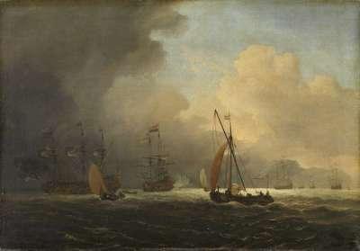 Seesturm bei aufsteigendem Gewitter
