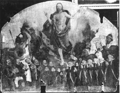Votivbild mit Auferstehung Christi