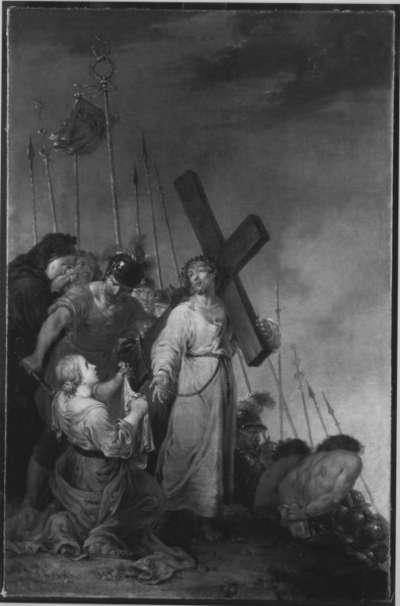 Veronika reicht Christus das Schweißtuch