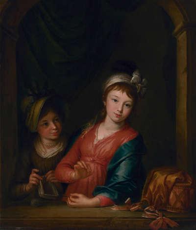 Doppelbildnis der zwei Töchter des Künstlers