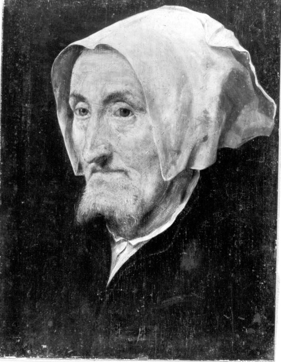 Bildnis einer alten bärtigen Frau (Marguerite Halseber)