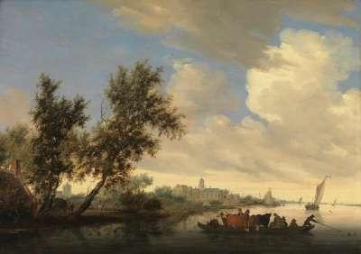 Kanallandschaft mit Schloss Nijenrode