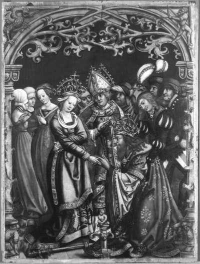 Kaiser Heinrich bittet die Kaiserin um Vergebung