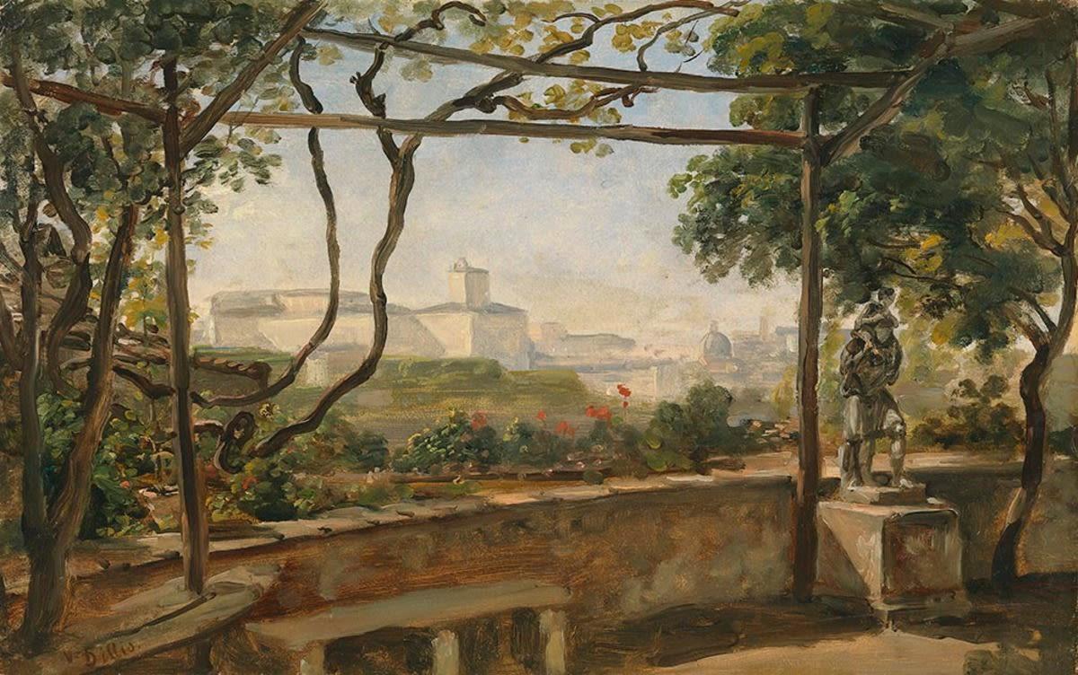 Blick von der Villa Malta auf den Quirinal