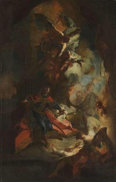 Die Überbringung der Königskrone an den hl. Stephan von Ungarn