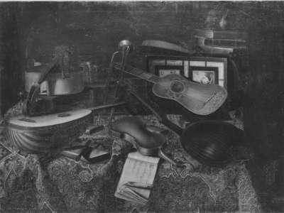 Stillleben: Musikinstrumente