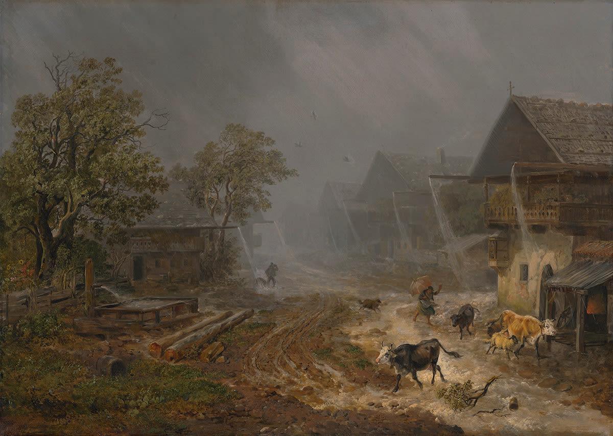 Regenschauer in Partenkirchen