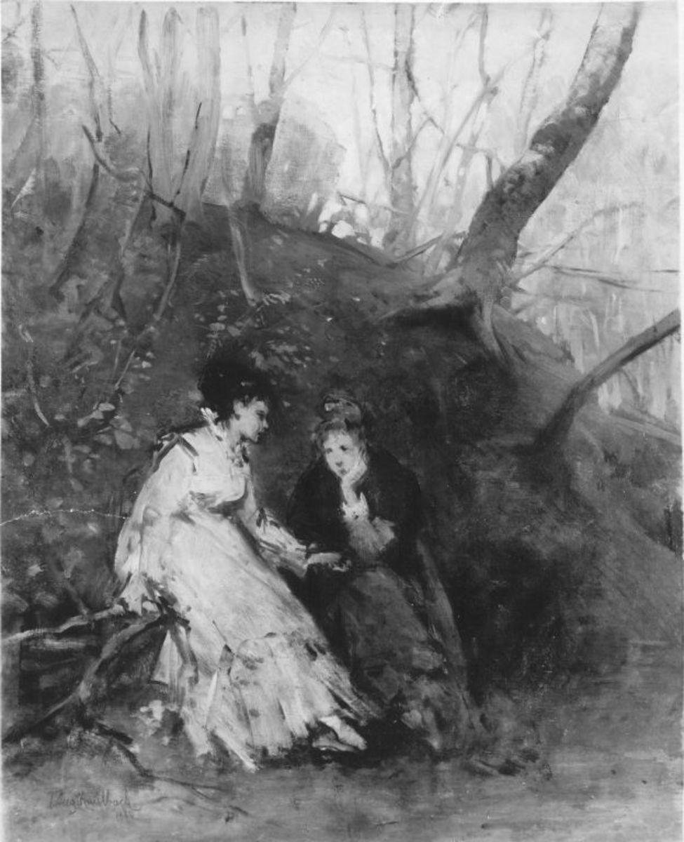 Zwei junge Frauen im Wald