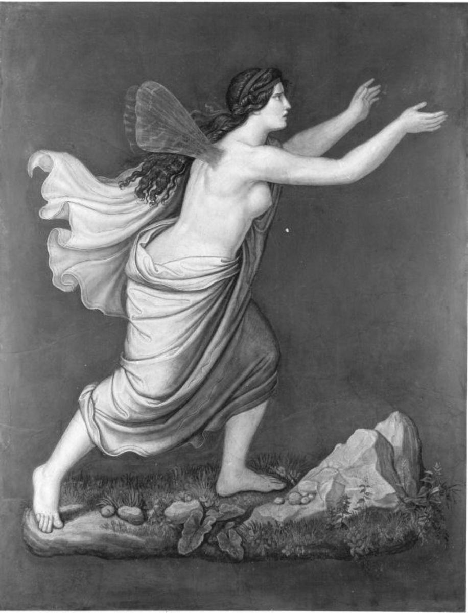 Das Märchen von Amor und Psyche: Psyche umherirrend