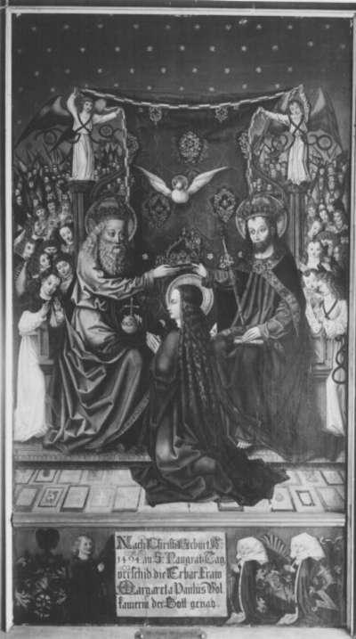 Epitaph der Margarethe Volckamer mit Krönung Mariens