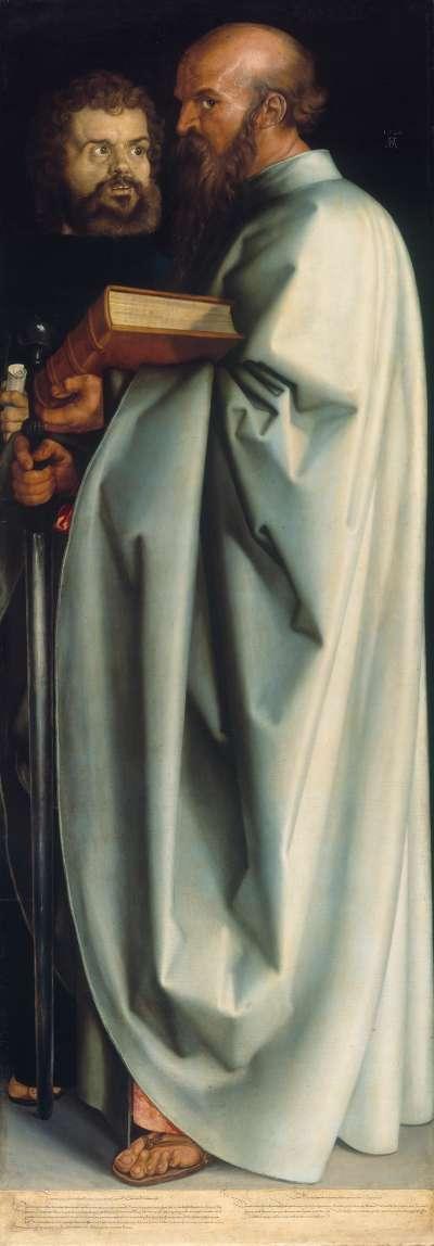 Vier Apostel: Hll. Markus und Paulus