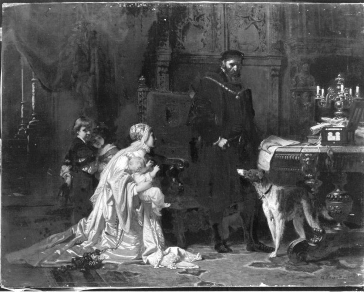 Philippine Welser vor Kaiser Ferdinand I.