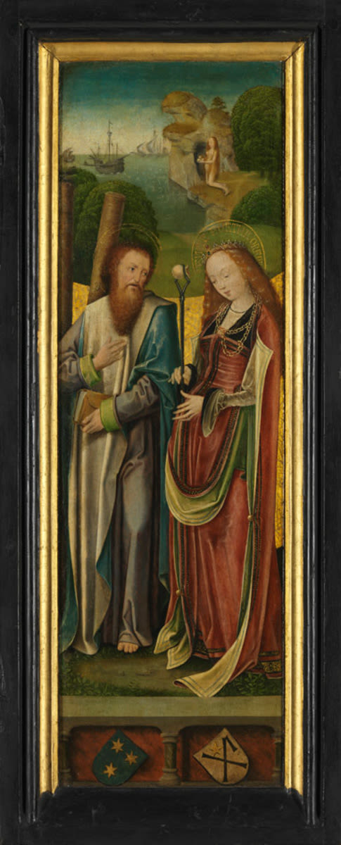Flügelpaar: Die hll. Andreas und Agatha Außenseite: Maria der Verkündigung