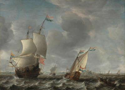 Marine mit Fort Rammekens bei Vlissingen