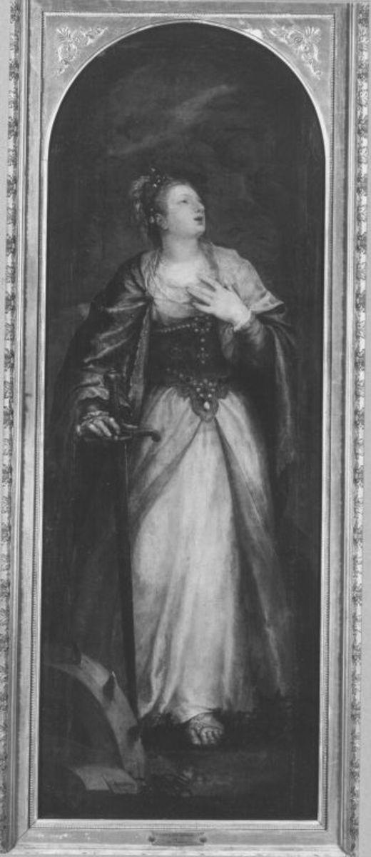 Marienaltar: Hl. Katharina Rückseite: Maria der Verkündigung