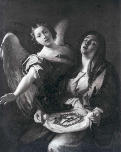 Die trauernde Muttergottes mit den Leidenswerkzeugen Christi