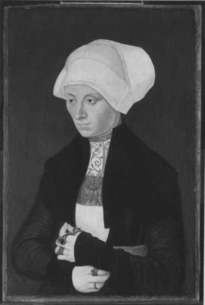 Bildnis einer jungen Frau mit Haube