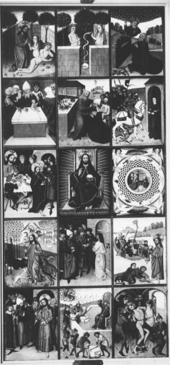 15 Szenen aus dem Alten Testament und dem Leben Christi