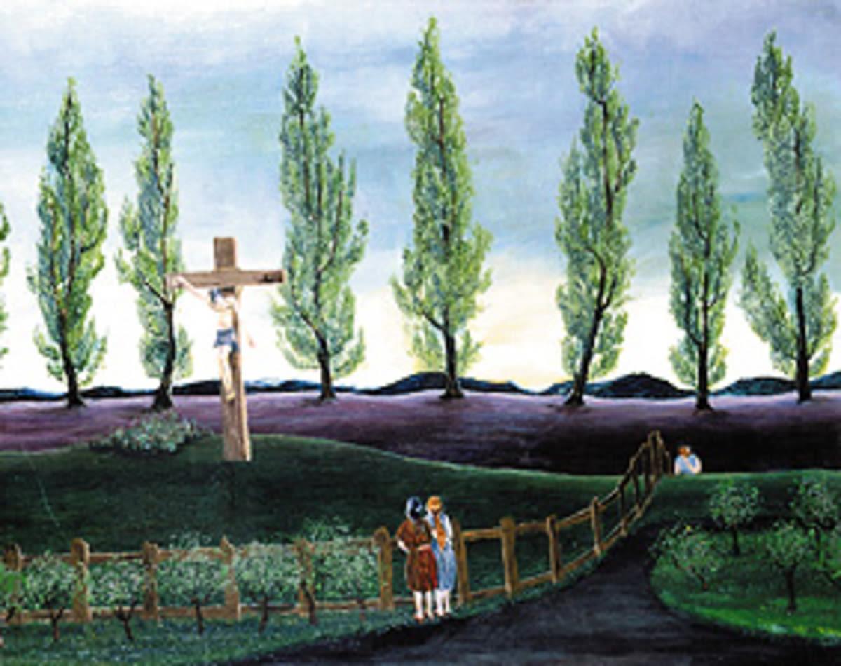 Mann am Kreuz