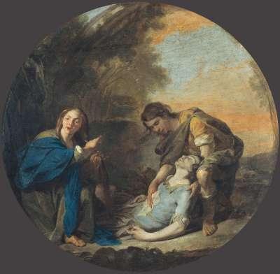 Erminia und der verwundete Tancred