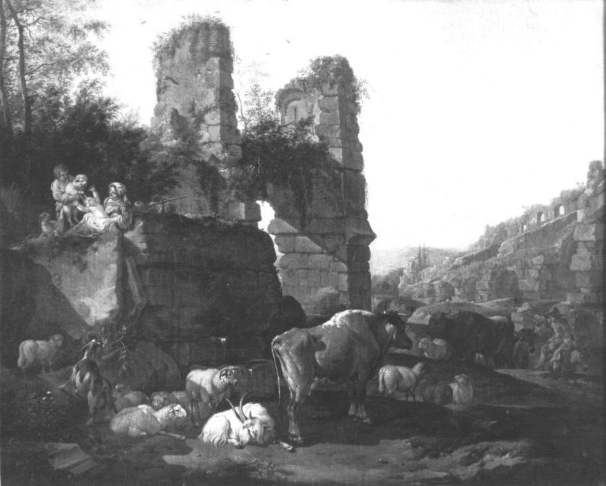 Italienische Landschaft mit Vieh