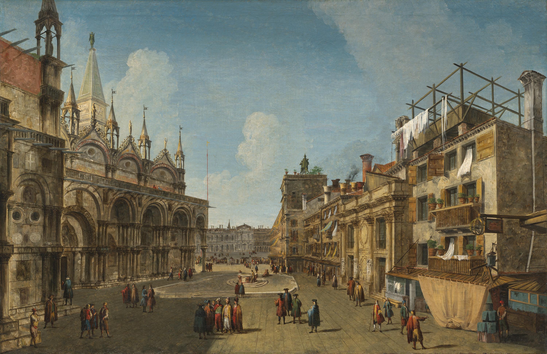 Ansicht der Piazzetta dei Leoni