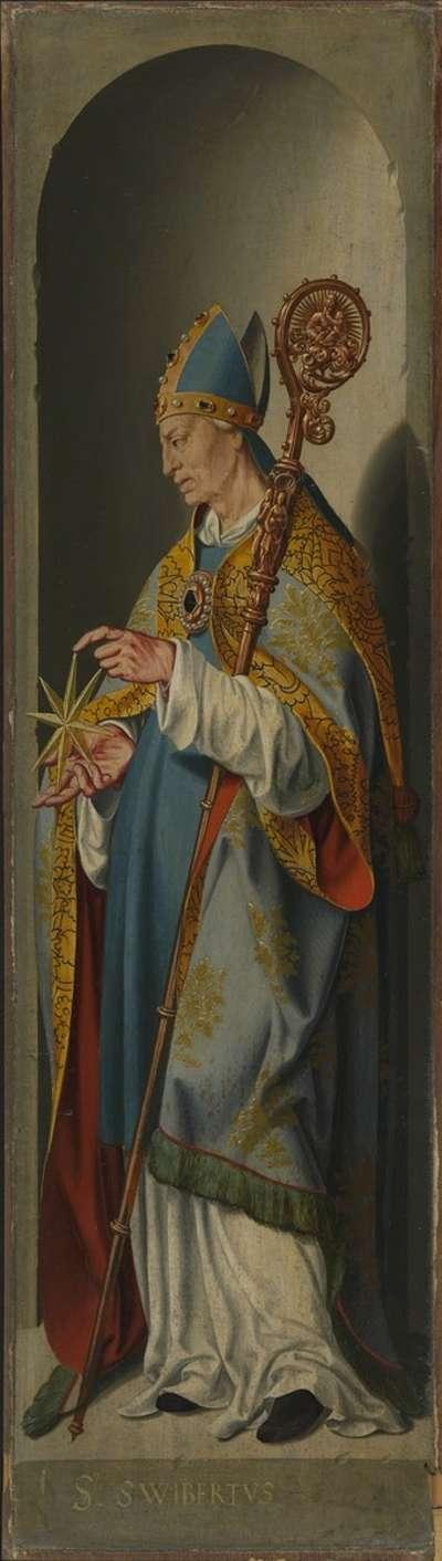 Beweinungsaltar, Flügelaußenseite: Hl. Suitbert