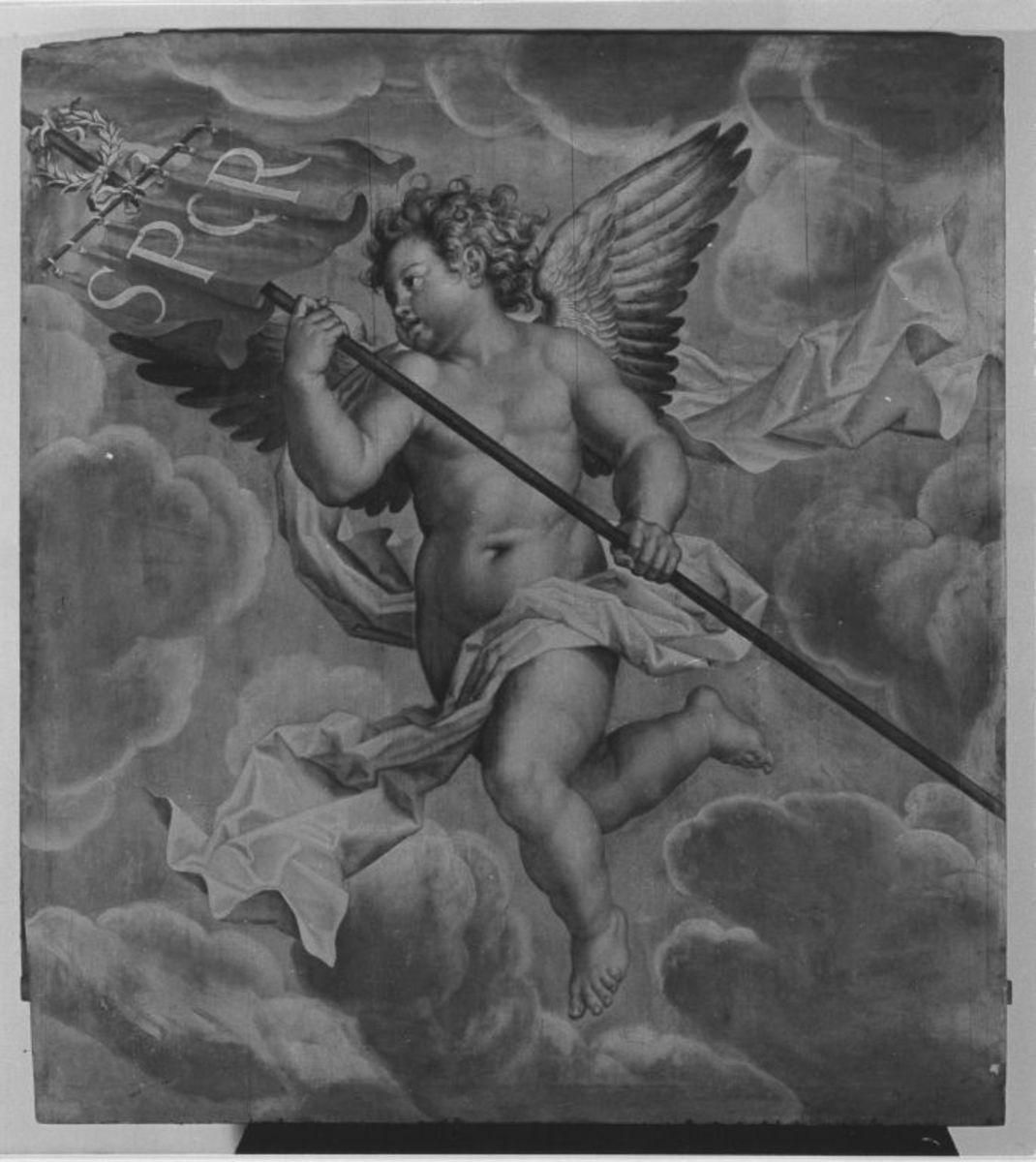 Engel mit römischer Trophäe
