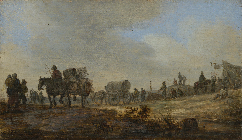 Landschaft mit Bauernkarren