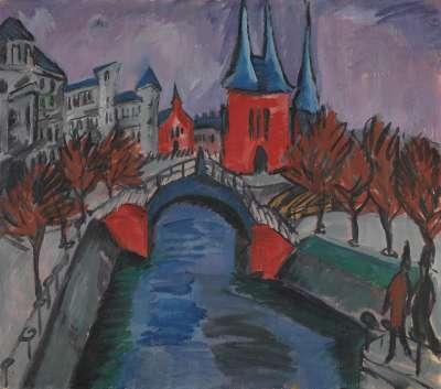 Rotes Elisabethufer, Berlin (Kanal mit Brücke)