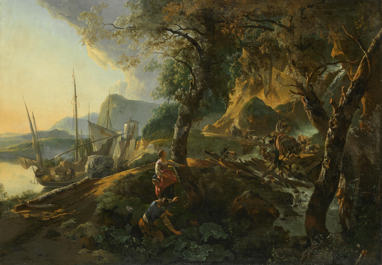 Landschaft mit einstürzender Brücke