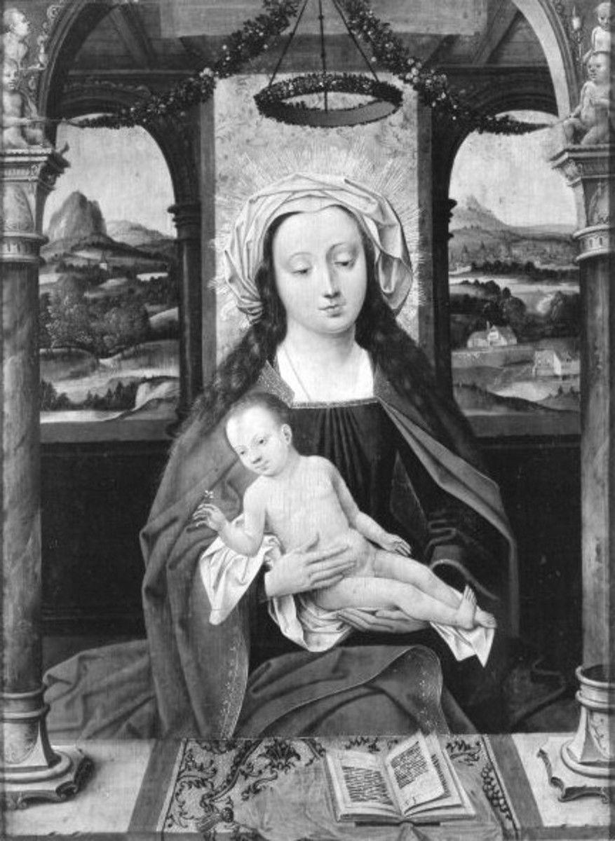 Thronende Maria mit Kind