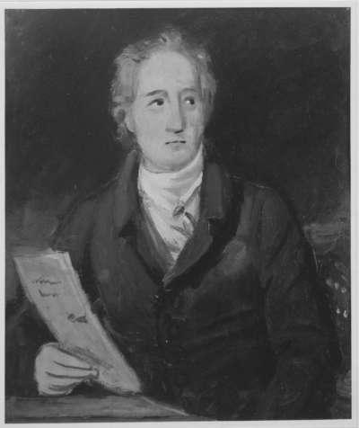 Johann Wolfgang von Goethe (Ölskizze)