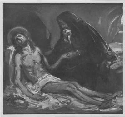 Beweinung Christi (Entwurf für das Altarbild in Külsheim bei Würzburg)