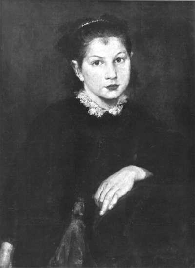 Studie zum Bildnis eines jungen Mädchens