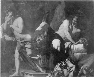 Amnon misshandelt seine Schwester Thamar