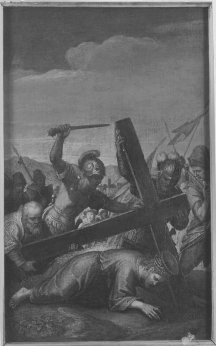 Christus fällt unter dem Kreuz