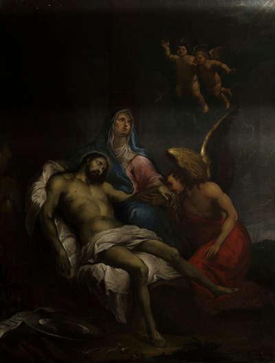 Pietà unter dem Kreuz