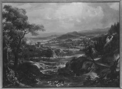 Landschaft mit Burgen