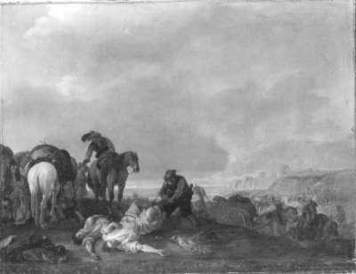 Soldaten auf dem Schlachtfeld