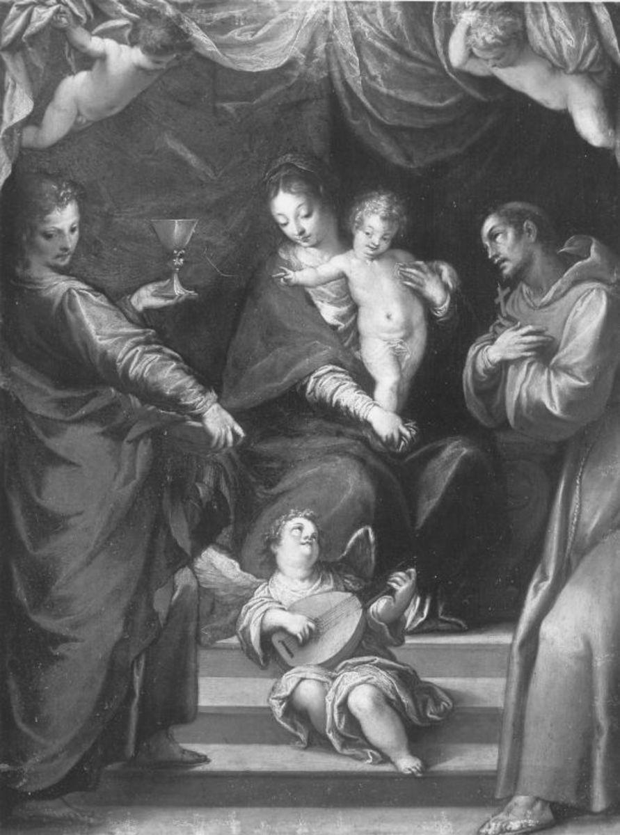 Maria mit Kind und den hll. Johannes der Evangelist und Franziskus